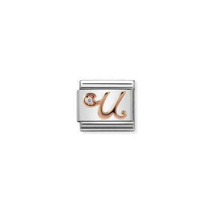 Rose Gold - Letter U charm By Nomination Italy from Nomination only 27.00 GBP