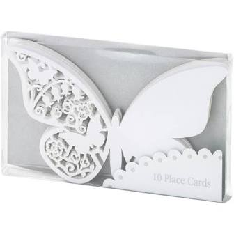 Place Cards - Ivory Butterflies
