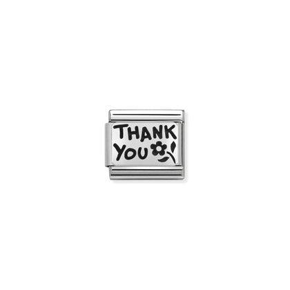Silver - Thank you charm By Nomination Italy from Nomination only 18.00 GBP