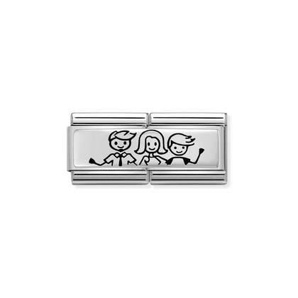Nomination Charm - Double Silver - Family - Little Boy from Nomination only 29.00 GBP
