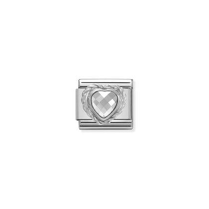 Silver Stones - White Heart Charm By Nomination Italy from Nomination only 20.00 GBP
