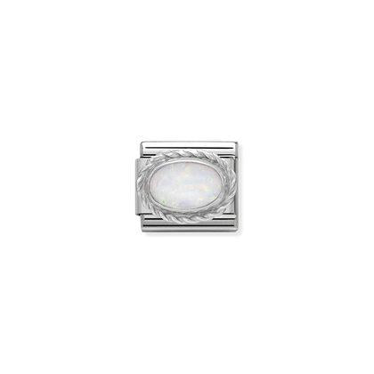 Silver Stones - White Opal Charm By Nomination Italy from Nomination only 22.00 GBP