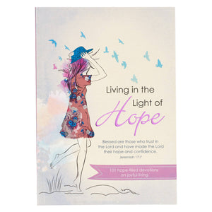 Living in the light of Hope Devotional with Trust in the Lord Wire Notebook