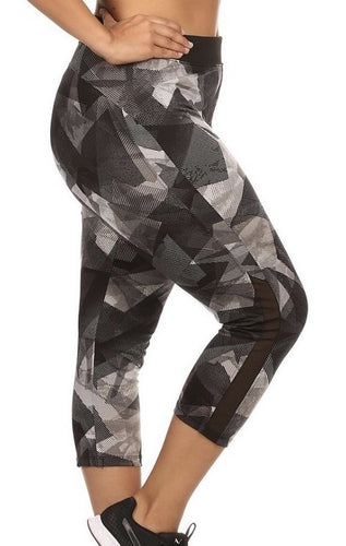 MESH ABSTRACT CAPRI LEGGINGS