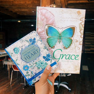 FROM THE HEART DEVOTIONAL with GRACE BUTTERFLY BLESSINGS JOURNAL