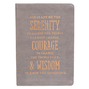 Serenity Prayer Classic LuxLeather Journal in Gray