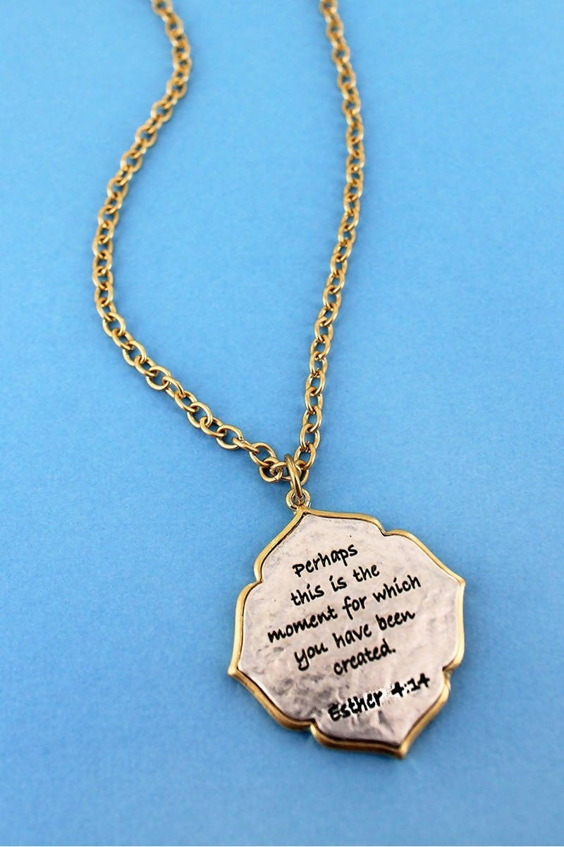 ESTHER 4:14 NECKLACE