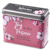 Joy in His Presence Devotional Cards in a Tin