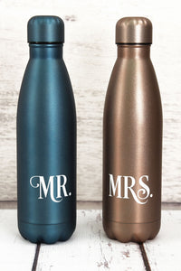 Mr. & Mrs. 17oz Stainless Steel Water Bottle Set
