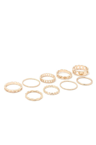 9 pcs Braided Ring Set