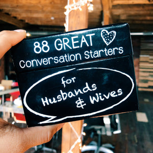 Conversation Starter cards for Husbands and Wives