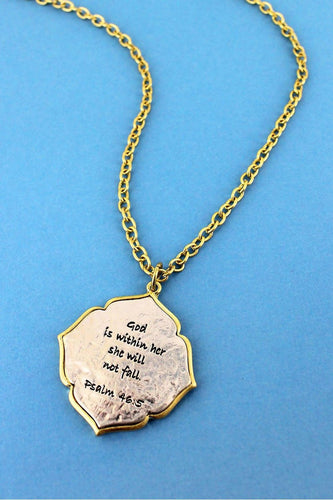 PSALM 46:5 NECKLACE