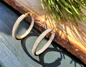Bling Hoop Earrings
