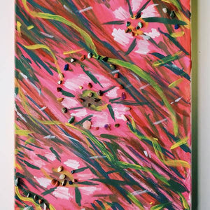 FLOWERS IN THE SPRINGTIME HANDMADE PAINTING