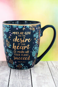 Make All Your Plans Succeed Floral Mug