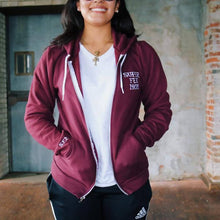 SuperFly Mom Maroon Zip Up Hoodie