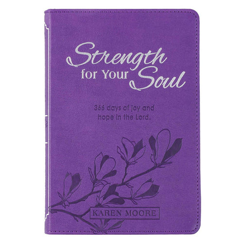 Strength For Your Soul Faux Leather Devotional in Purple