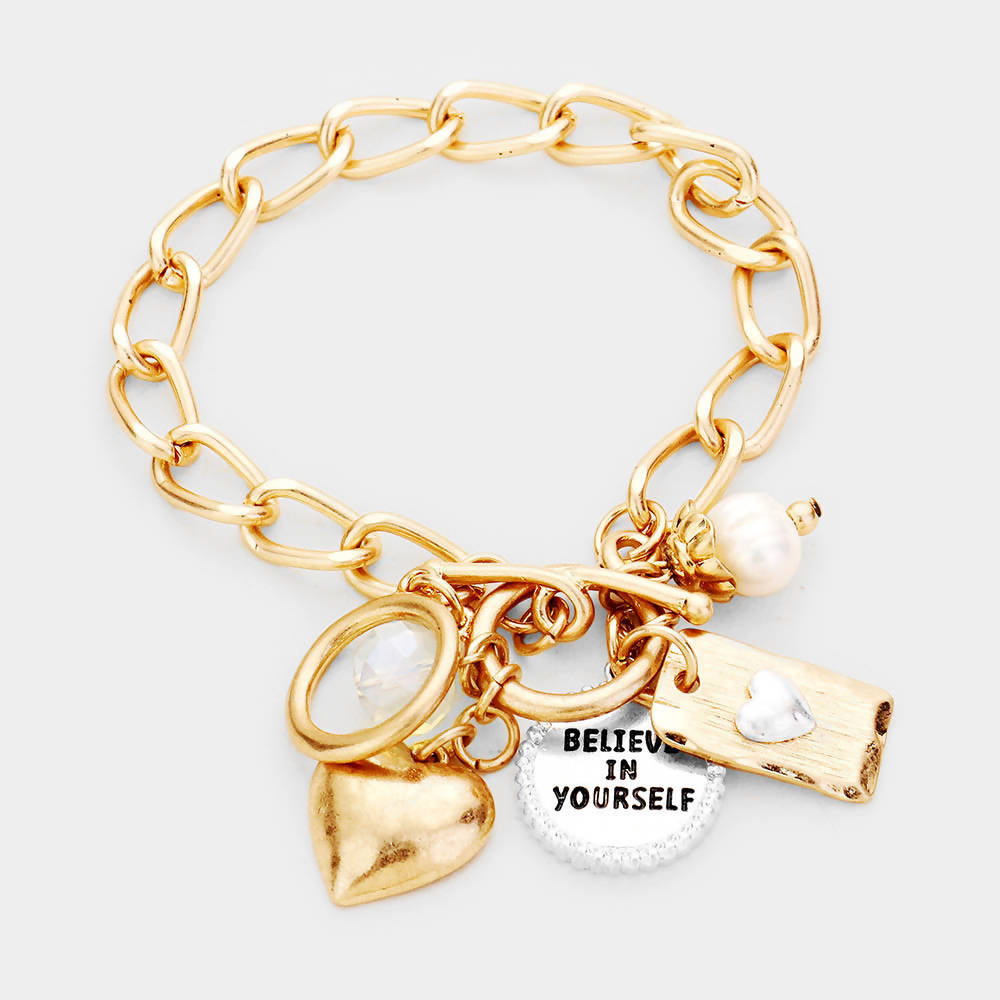 Believe Toggle Bracelet