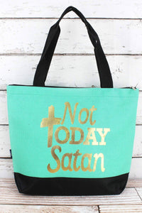 'NOT TODAY SATAN' TOTE BAG