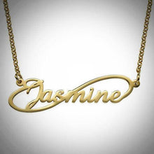 INFINITY STYLE NAME NECKLACE