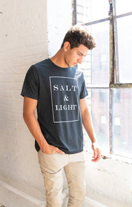 """Salt and Light Crew Tee Unisex-Black"""