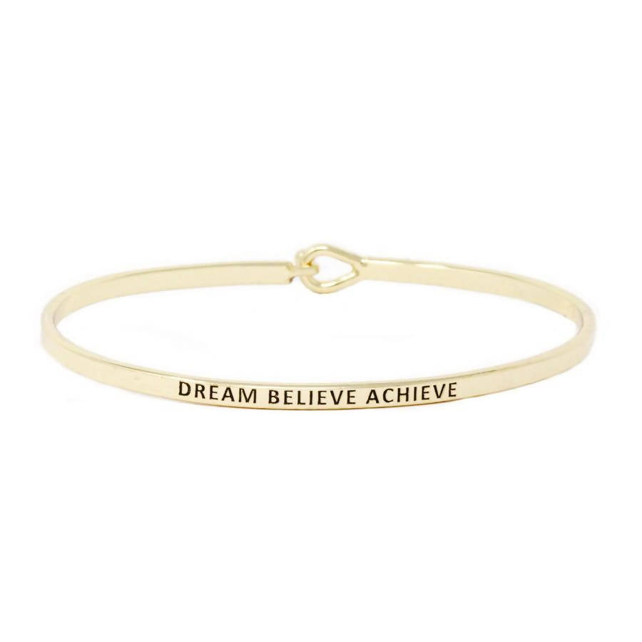 DREAM BELIEVE ACHIEVE Inspirational Bracelet