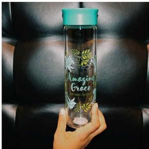 Amazing Grace Floral Water Bottle