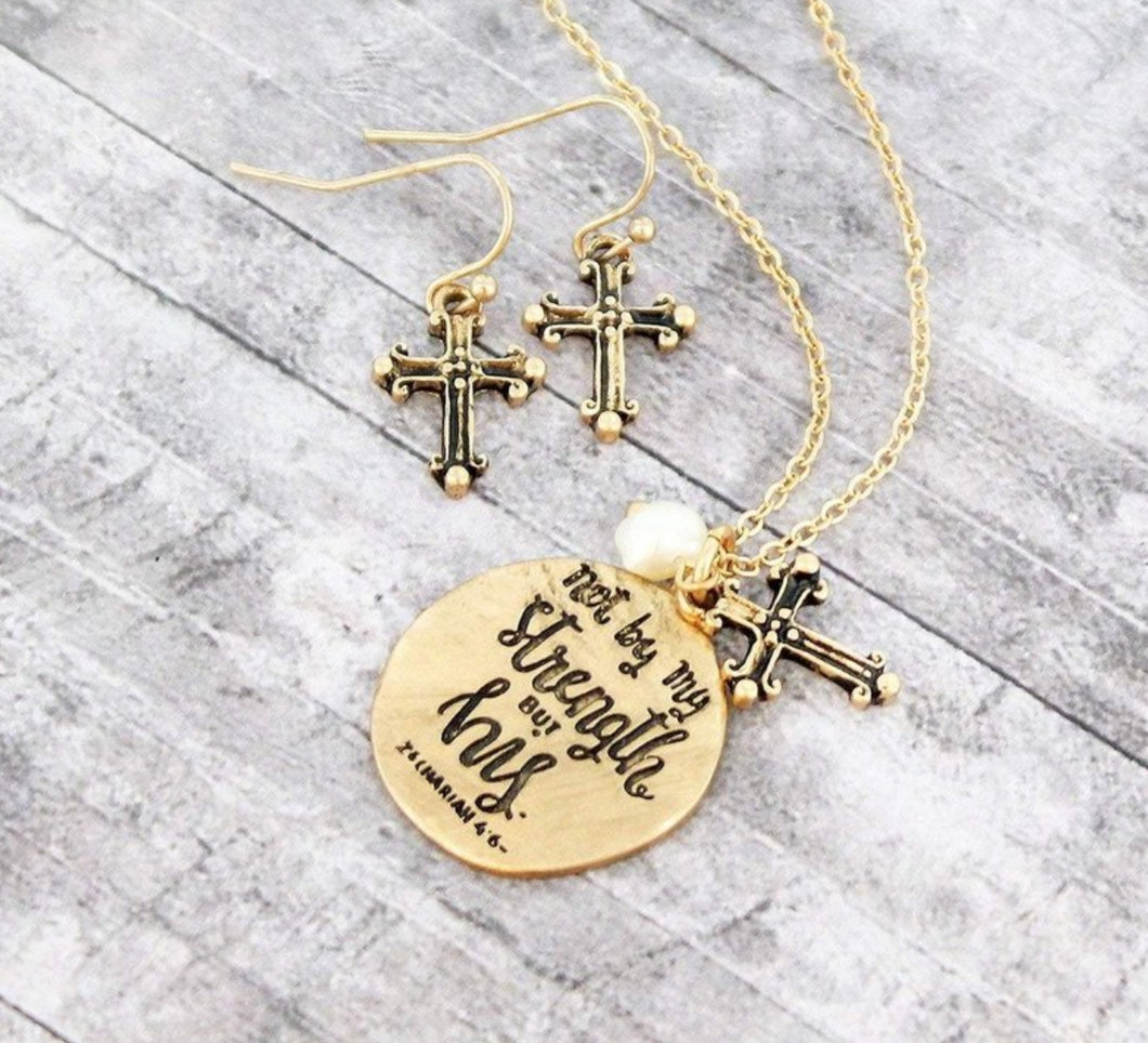 ZECHARIAH 4:6 NECKLACE