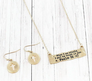 PSALM 56:3 NECKLACE