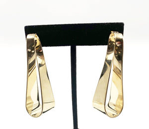 Flat Twisted Drop Earrings