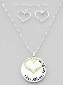 Heart Love Necklaces Set