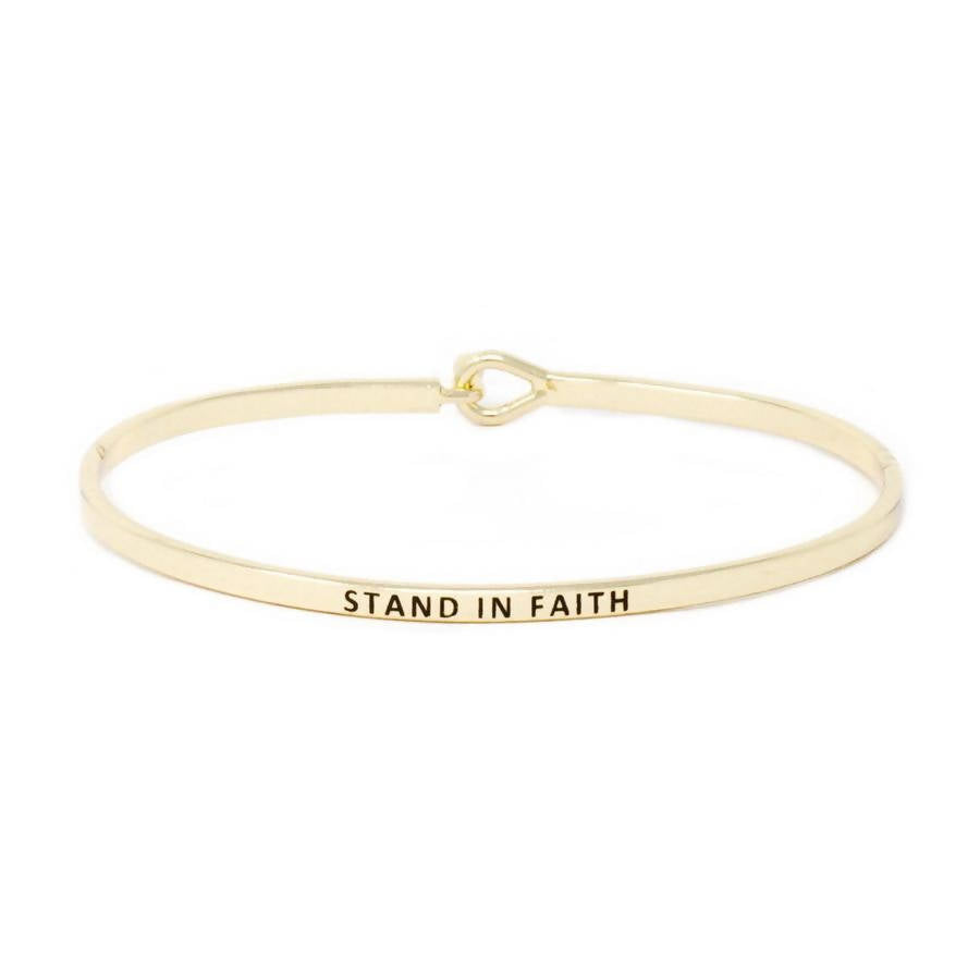 STAND IN FAITH Inspirational Bracelet