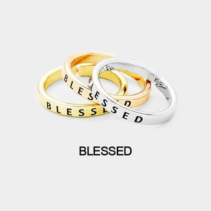 "3pcs Ring Set ""Blessed"""