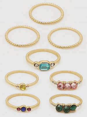 Multi-Color Midi Rings