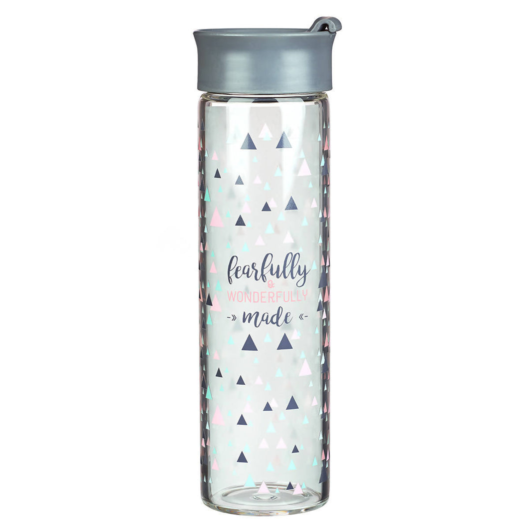 Fearfully and Wonderfully Made Glass Water Bottle