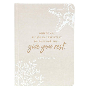 The Power of Prayer One-Minute Devotions WITH Give You Rest Hardcover Linen Journal set