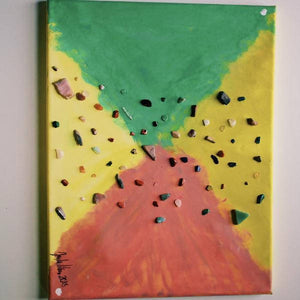 CRYSTAL EXPLOSION HANDMADE PAINTING