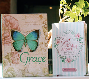 BUTTERFLY BLESSINGS HARDCOVER JOURNAL with GOD'S DAILY ANSWERS DEVOTIONAL