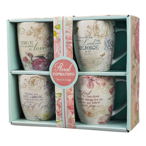 Floral Inspirations set of four Coffee Mug