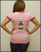 "Christ In Sports - Pink with Red trim ""No Sweat God Got Me"""