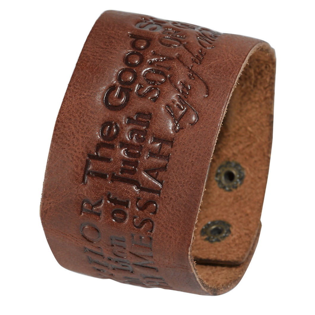 Name of Jesus Leather Wriststrap