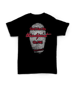 Christ In Sports-Black Thumbprint Tee