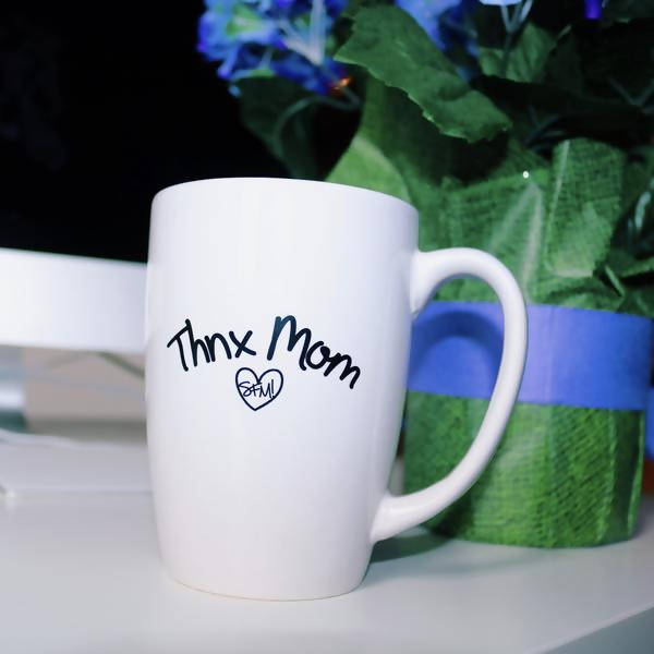 Thnx Mom Coffee Mug (White)