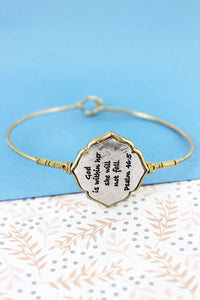 TWO-TONE WIRE-WRAPPED 'PSALM 46:5' MOROCCAN BANGLE