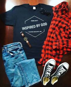 INSPIRED BY GOD T-SHIRT (ENGLISH VERSION)