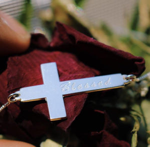 On The Cross Personalized Necklace