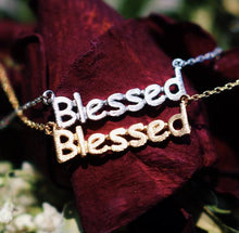 BLESSED STENCIL NECKLACE