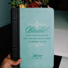 "Luke 1:45 ""Blessed"" LuxLeather Flexcover Zippered Journal"