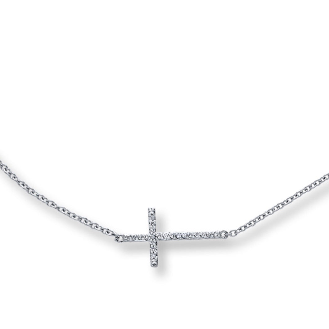 Religious Cross Cubic Delicate Necklace