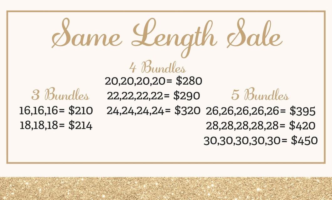 Same Length Sale